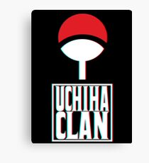 Uchiha Clan Logo 3d Canvas Print