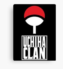 Uchiha Clan logo v3 Canvas Print