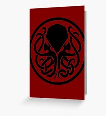 Cthulu Logo Greeting Card