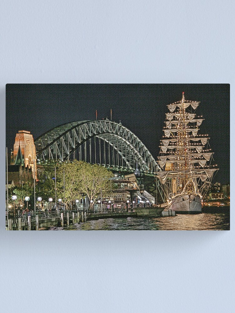 Alternate view of Sydney Series - The Rocks Boardwalk Canvas Print