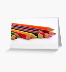 Colour Pencils Greeting Card