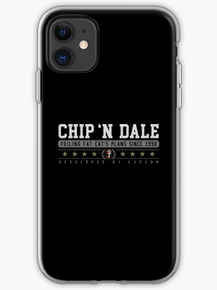 Chip N Dale Vintage Black Iphone Case Cover By Garudoh Redbubble