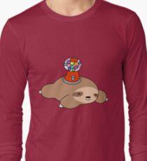 Gumball Machine Sloth Long Sleeve T-Shirt