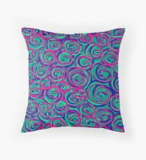 Circles Over Circles by Julie Everhart Throw Pillow