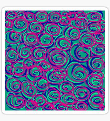 Circles Over Circles by Julie Everhart Sticker