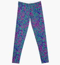 Circles Over Circles by Julie Everhart Leggings