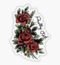 pretty. odd. roses Sticker