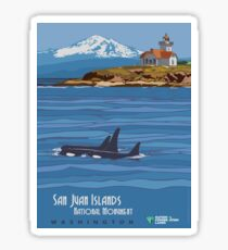 Vintage Travel Poster - San Juan Islands National Monument (2014) Sticker