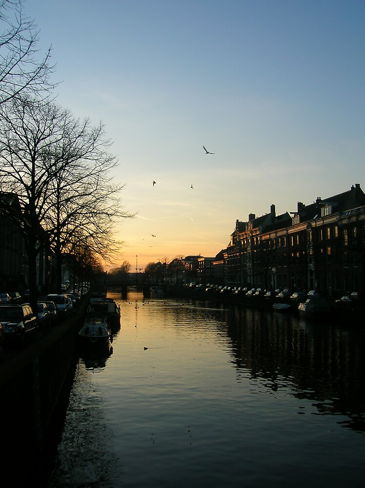 sunset over haarlem by mariejoubert