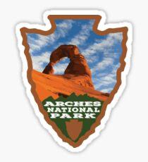 Arches National Park arrowhead Sticker