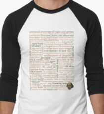 Shakespeare's Insults Collection - Revised Edition (by incognita) Men's Baseball ¾ T-Shirt