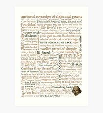 Shakespeare's Insults Collection - Revised Edition (by incognita) Art Print