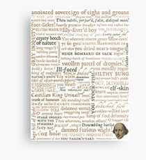 Shakespeare's Insults Collection - Revised Edition (by incognita) Metal Print