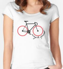 single speed Women's Fitted Scoop T-Shirt