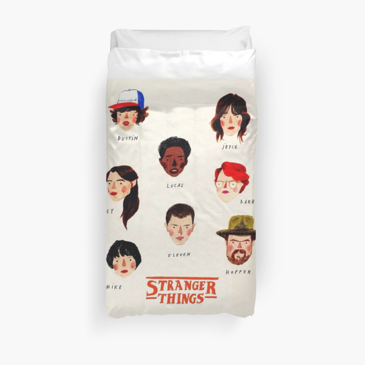 Quot Stranger Things Edit Quot Duvet Covers By Robadict Redbubble