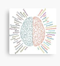 Left and right brain Canvas Print