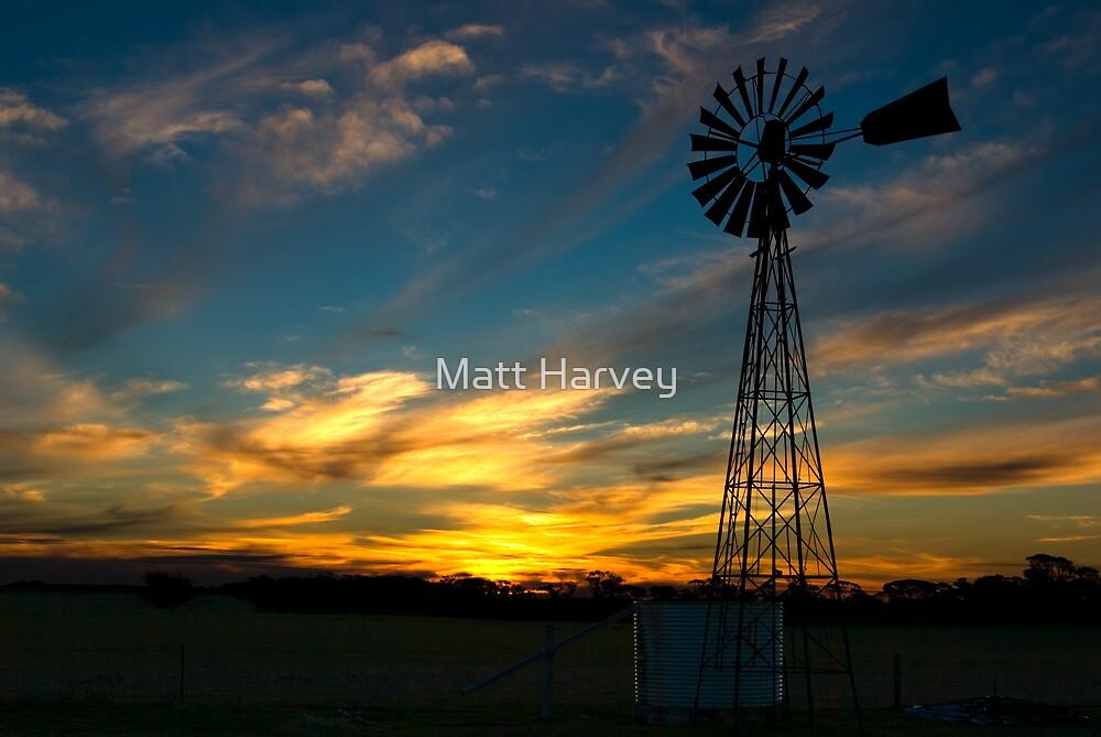 Sunset near Geranium, South Australia by Matt Harvey