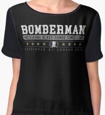 Bomberman - Vintage - Black Women's Chiffon Top
