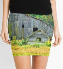 Old Barn in the Fall Mini Skirt