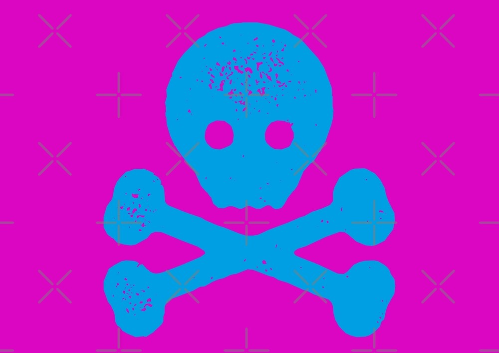 SKULL AND CROSSBONES / JOLLY ROGER GRAPHIC MOTIF by Clifford Hayes