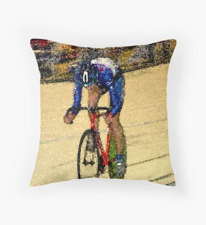 Final sprint Throw Pillow