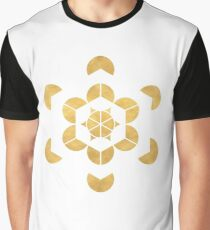 HEXAHEDRON CUBE sacred geometry Graphic T-Shirt