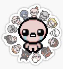 The Binding of Isaac, circle of characters Sticker