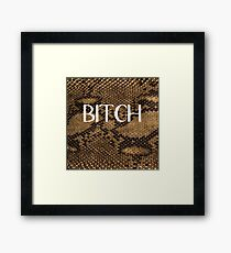BITCH Framed Print