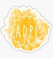 ADPI Watercolor wreath Sticker