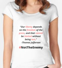 #NotTheEnemy Women's Fitted Scoop T-Shirt
