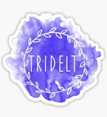 Tri Delt Watercolor Wreath Sticker
