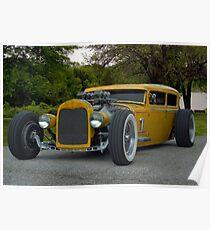 1931 Ford Model A Sedan Rat Rod Poster