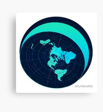 #FLATEARTH Original Azimuthal Map with Dome Design Canvas Print