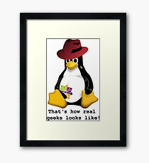 That's how real geeks looks like! Framed Print