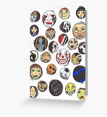 Horror Characters Greeting Card