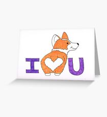 Corgi Butt Liebe dich Grußkarte