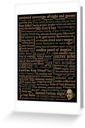 Shakespeare Insults Dark - Revised Edition (by incognita) by Incognita Enterprises