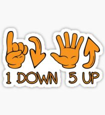 1down5up One Down Five Up 1N23456 Motorcycle Gears  Sticker