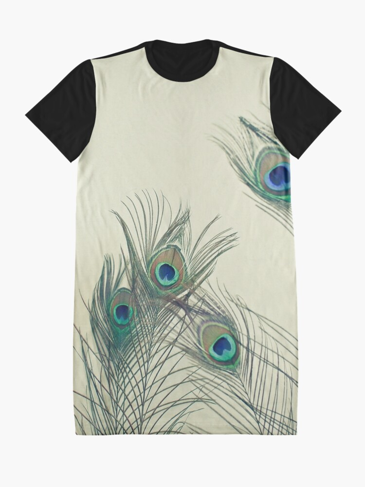 Alternate view of All Eyes Are on You  Graphic T-Shirt Dress