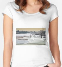 Dromoland Castle Hotel, Winter, County Clare, Ireland Women's Fitted Scoop T-Shirt