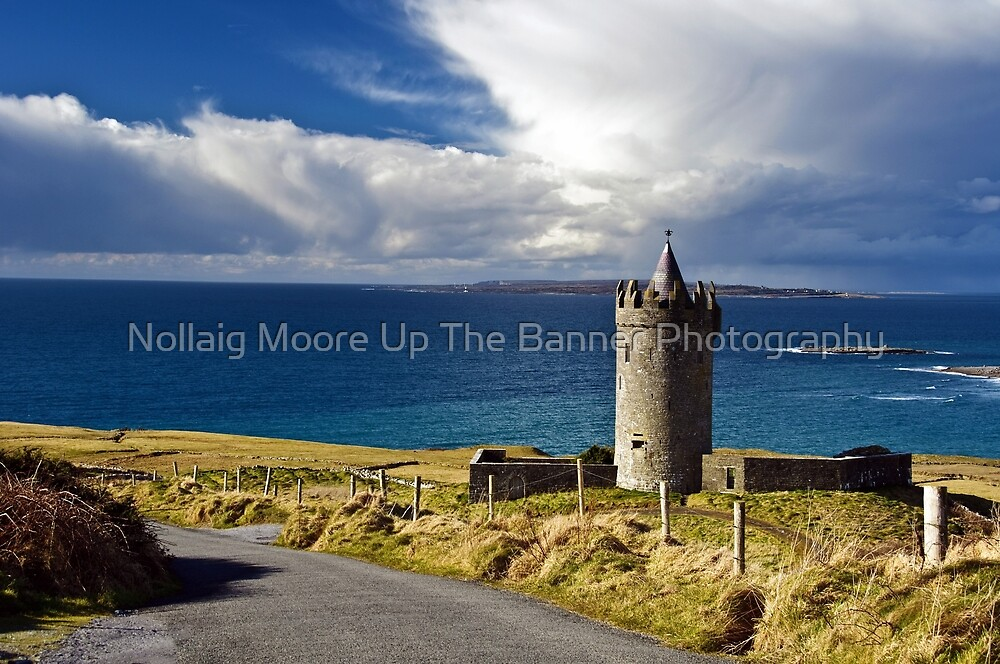 Doolin Irish Castle, County Clare, Ireland by Noel Moore Up The Banner Photography