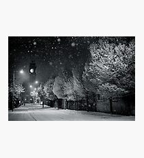 Evening Snow,  Rathmines - Dublin - Ireland. Photographic Print