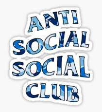 ANTI SOCIAL SOCIAL CLUB BLUE CAMO Sticker