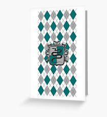 Snake House Crest on Argyle Greeting Card
