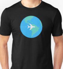 Geometric Digital Nomad : Minimalist World Adventure T-Shirt