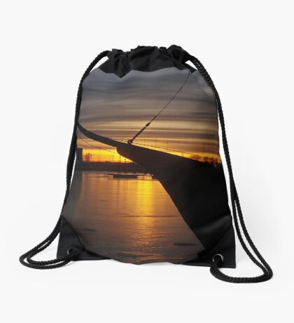 February sunset Drawstring Bag