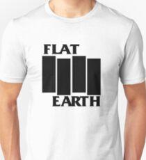 Flat Earth Designs (Black Flag Rebel Style Flat Earth) Unisex T-Shirt