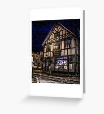 Northwich at night 14 Greeting Card
