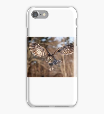 Great Grey Owl swoops down iPhone Case/Skin