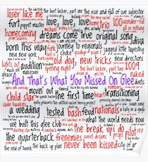 And That's What You Missed On Glee - Episodes Poster